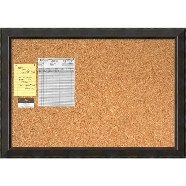 signore cork board large framed art print 83756d decorative wood black