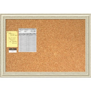 Country Whitewash 40 x 28 Large Message Cork Boards