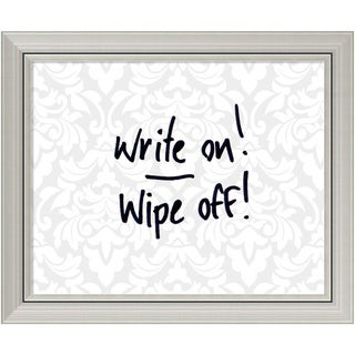 Grey & White Damask 24 x 20 Small Message Dry-Erase Board