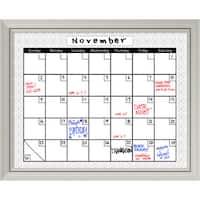 'Medallion Grey Dry-Erase Board Calendar' 32 x 26-inch