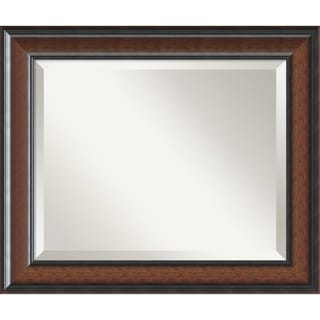 'Cyprus Walnut Wall Mirror - Medium' 25 x 21-inch
