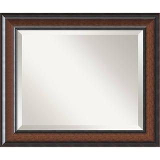 Wall Mirror, Cyprus Walnut Wood - Black/Brown