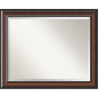 Wall Mirror Large, Cyprus Walnut 33 x 27-inch - large - 33 x 27-inch
