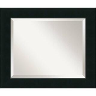 Wall Mirror Medium, Corvino Black 21 x 25-inch