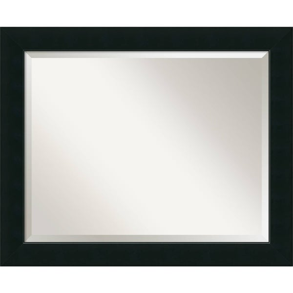 Wall Mirror Large, Corvino Black 33 x 27-inch