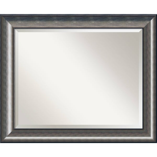 Wall Mirror Large, Quicksilver 34 x 28-inch - Silver/Black - 27.75 x 33.75 x 1.463 inches deep
