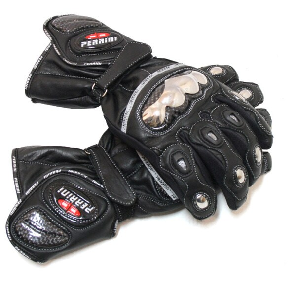 Perrini Metal/ Leather Motorcycle Riding Gloves