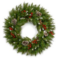 24-inch Frosted Berry Wreath