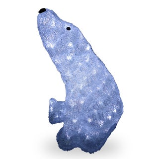 17-inch Acrylic Sitting Bear with 120 LED Lights