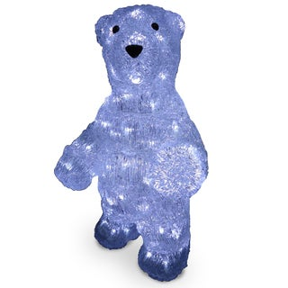 19-inch Acrylic Standing Bear with 100 LED Lights