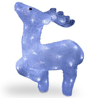 17-inch Acrylic Standing Deer with 60 LED Lights