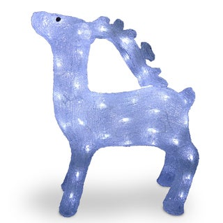 20-inch Acrylic Standing Deer with 60 LED Lights