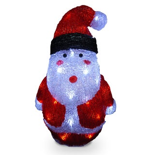 16-inch Acrylic Santa with 40 LED Lights