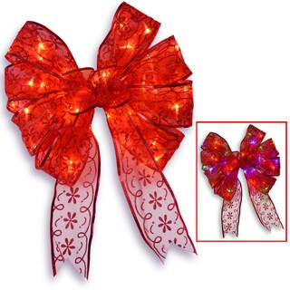 9-inch Red Bow with 40 Dual LED Lights