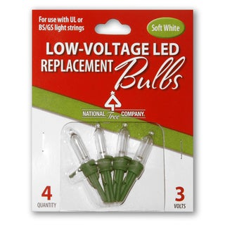 4 Low Voltage Warm White LED Replacement Bulbs-Blister Pack