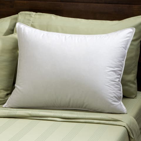 Soft Density 400 Thread Count Goose Down Pillow - White