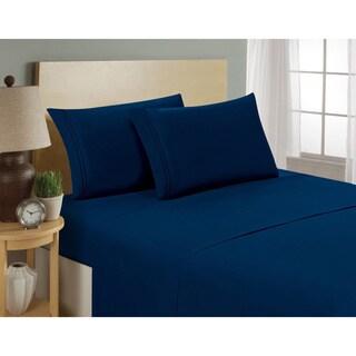 Hotel Luxury Deep Pocket Microfiber 4-piece Bed Sheet Set