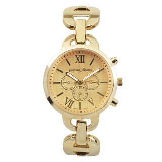 Journee Collection Round Face Link Watch