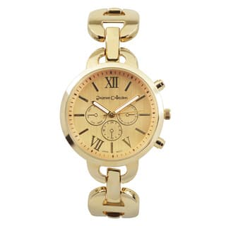 Journee Collection Round Face Link Watch|https://ak1.ostkcdn.com/images/products/9620316/P16805595.jpg?impolicy=medium