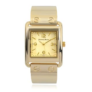 Journee Collection Rhinestone Square Face Link Watch|https://ak1.ostkcdn.com/images/products/9620327/P16805605.jpg?impolicy=medium