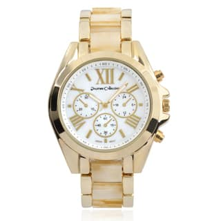 Journee Collection Link Band Round Face Watch|https://ak1.ostkcdn.com/images/products/9620336/P16805613.jpg?impolicy=medium
