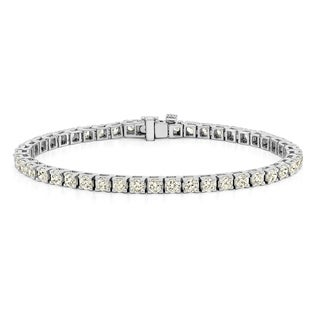 Auriya 14k Gold 1 1/2ct to 12ct TDW Diamond Tennis Bracelet