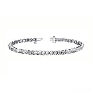 14k Gold 2ct to 15ct TDW Round Diamond Tennis Bracelet by Auriya