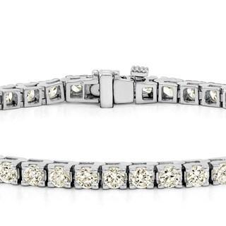 Auriya 14k Gold 1 1/2ct to 12ct TDW Diamond Tennis Bracelet (J-K, I3)