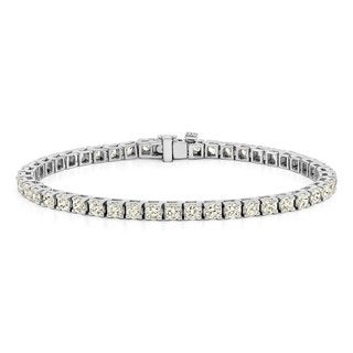 Auriya 14k Gold 1 1/2ct to 12ct TDW Diamond Tennis Bracelet (J-K, I3)