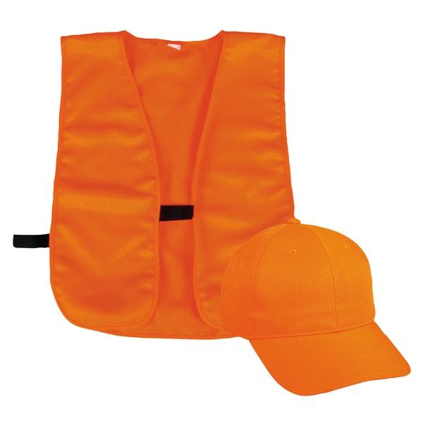 Outdoor Cap Company Orange Vest and Hat