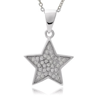 Journee Collection Sterling Silver Cubic Zirconia Star Pendant