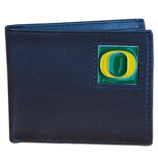 NCAA Oregon Ducks Leather Bi-fold Wallet