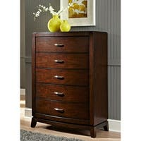Avalon Dark Truffle 5-Drawer Chest