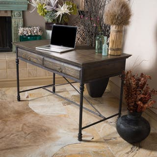 Christopher Knight Home Hylas Medium Brown Two-Drawer Desk https://ak1.ostkcdn.com/images/products/9620477/P16805327.jpg?impolicy=medium