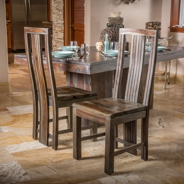 Shop Christopher Knight Home Grey Dining Chair Set Of 2