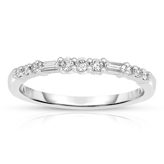 Eloquence 14k White Gold 1/4ct TDW Fashion Diamond Band (5 options available)