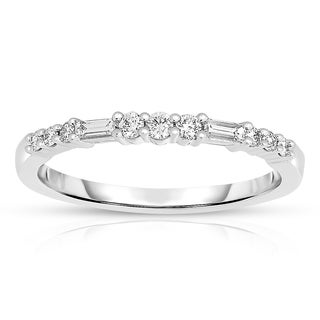 Eloquence 14k White Gold 1/4ct TDW Fashion Diamond Band