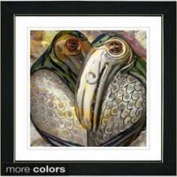 Studio Works Modern 'Parrott Pair' Framed Fine Art Print