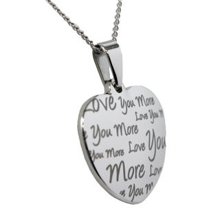 Love You More Heart Stainless Steel Necklace