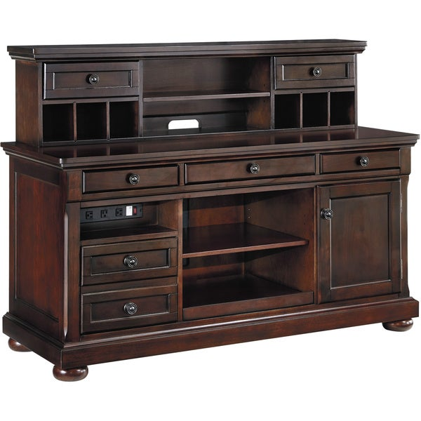 Signature Designs By Ashley Porter Home Office Desk Hutch