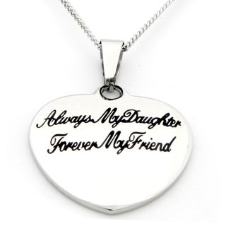 'Always My Daughter, Forever My Friend' Small Heart Pendant