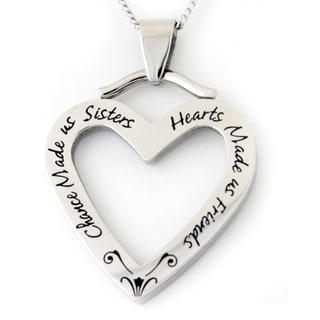 Chance Made Us Sisters Stainless Steel Necklace