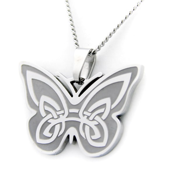 Irish blessing celtic butterfly necklace free shipping for Do pawn shops buy stainless steel jewelry