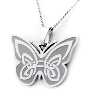 Irish Blessing Celtic Butterfly Necklace