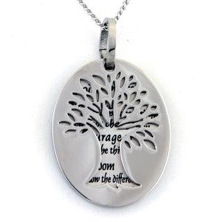 Serenity Prayer Tree Two-piece Pendant