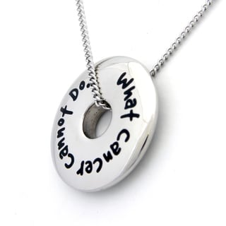 What Cancer Cannot Do Stainless Steel Disc Necklace
