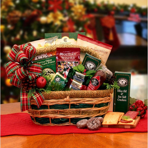 Shop Holiday Favorites Gourmet Gift Basket - Free Shipping Today - Overstock.com - 9620531