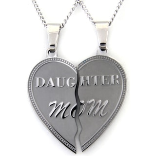 Daughter Mom' 2-piece Stainless Steel Pendant