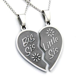 Big Sis, Little Sis Two-piece Heart Necklace https://ak1.ostkcdn.com/images/products/9620537/P16805377.jpg?impolicy=medium