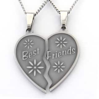 Best Friends Two-piece Heart Necklace https://ak1.ostkcdn.com/images/products/9620538/P16805378.jpg?impolicy=medium
